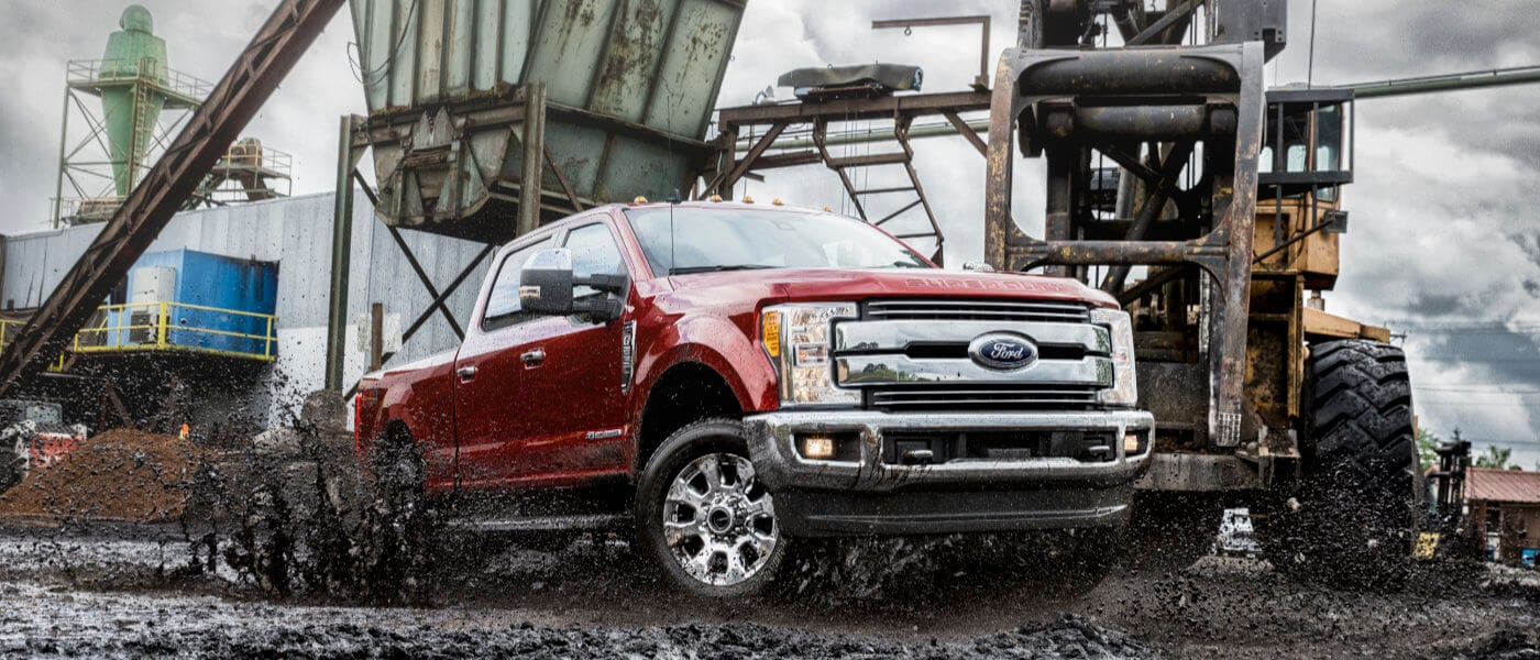 2019 Ford F-250 exterior driving muddy construction site