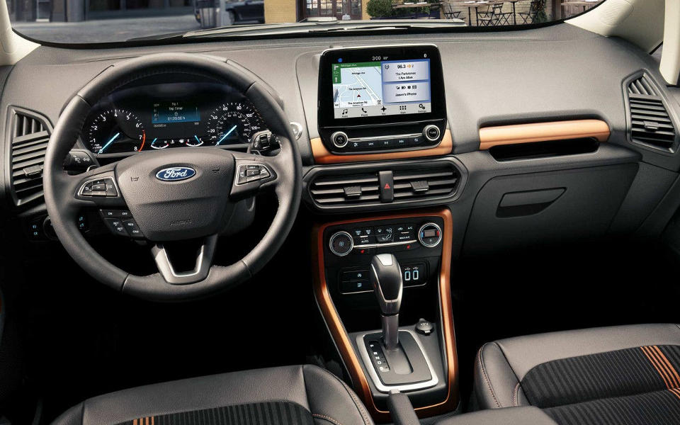 Interior of a 2018 Ford EcoSport