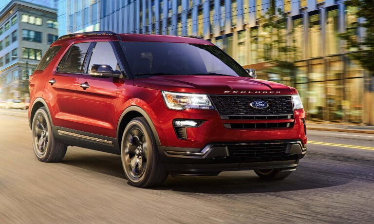 2019 Ford Explorer Driving on City Street