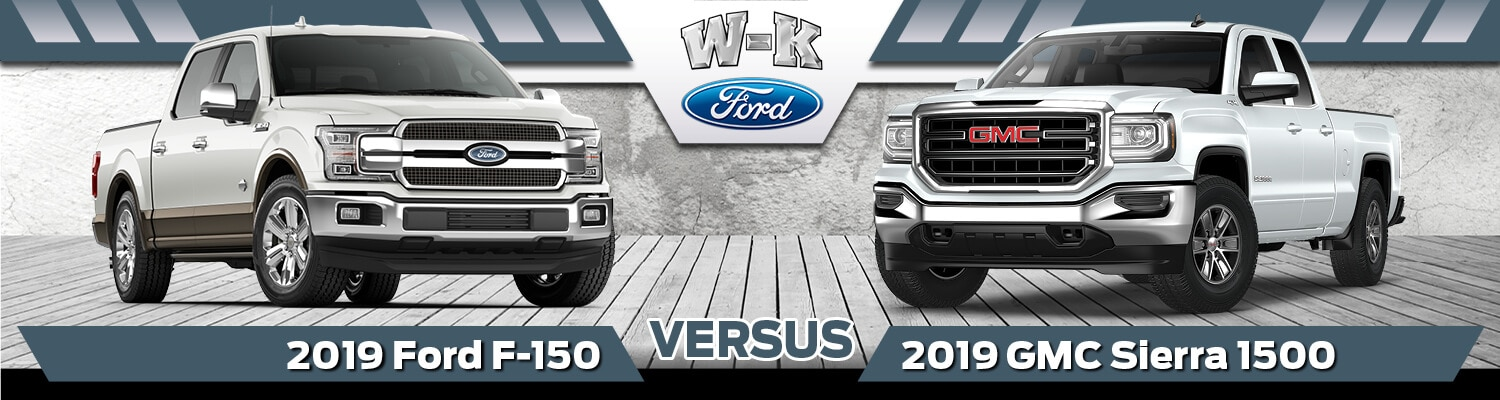 2019 Ford F-150 vs. 2019 GMC Sierra 1500