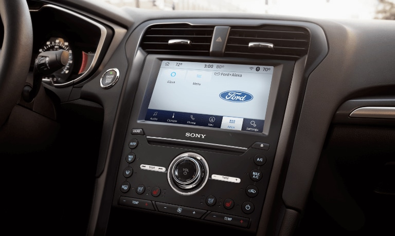 Ford Fusion front interior touchscreen