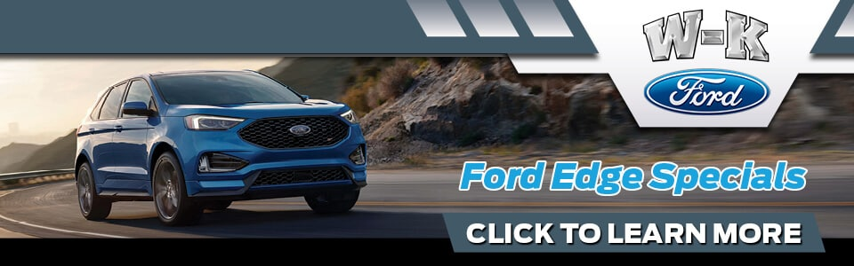 2019 Ford Edge Specials Banner