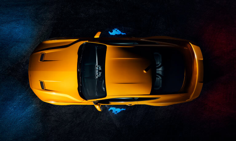 2019 Ford Mustang exterior birds eye view