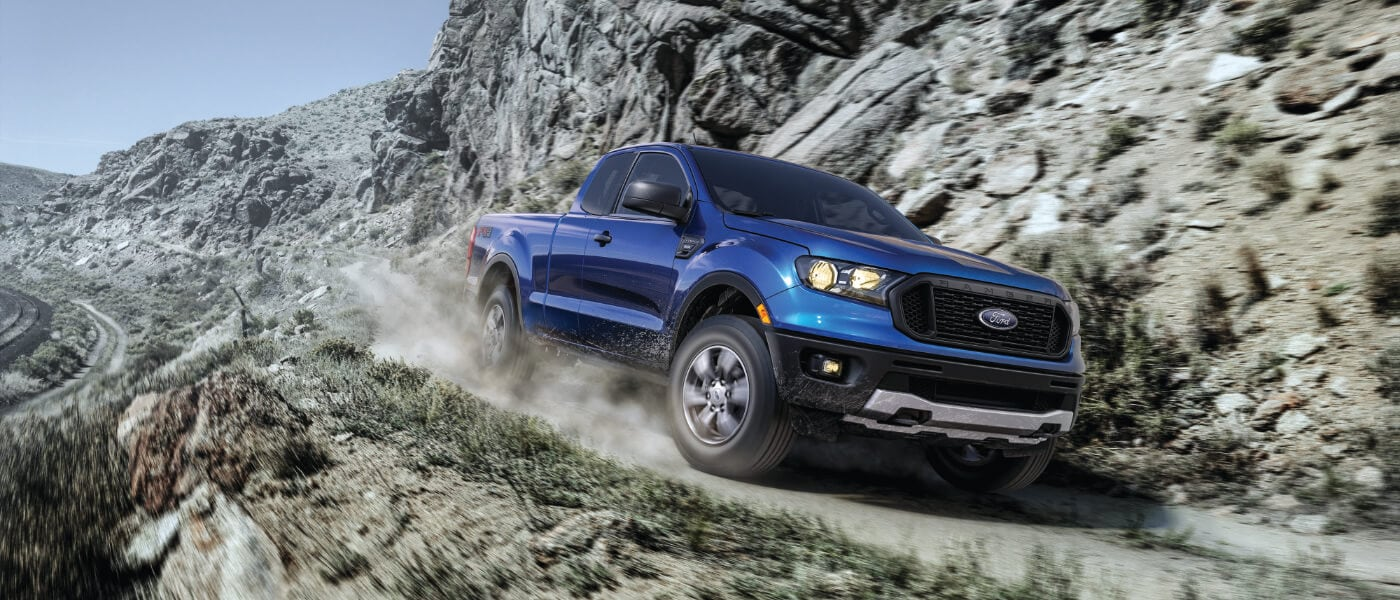 2019 Ford Ranger on the beach
