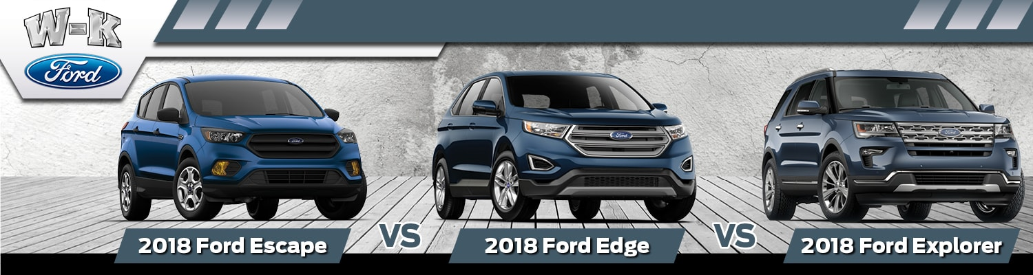 Comparison Of The  Ford Escape Edge Explorer