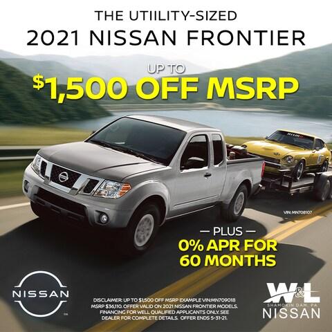 2021 Frontier - $1500 Off PLUS 0%/60