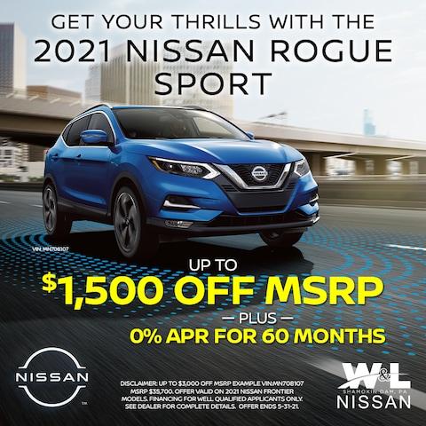 2021 Rogue Sport - $1500 Off PLUS 0%/60