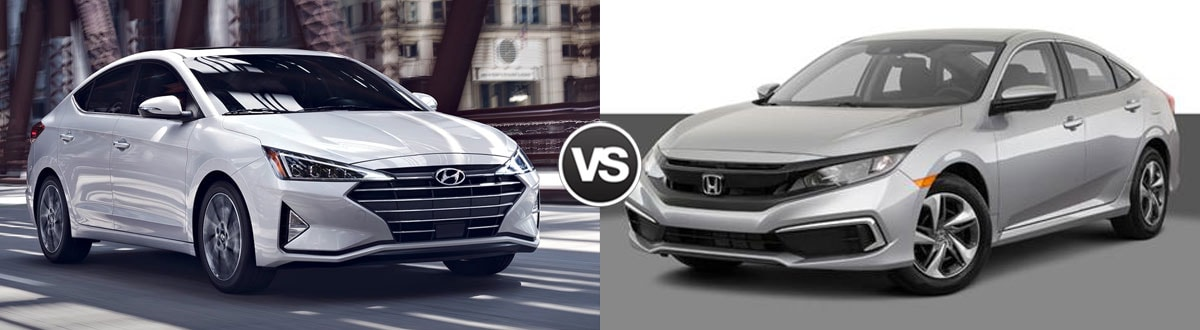 2019 Hyundai Elantra vs 2019 Honda Civic