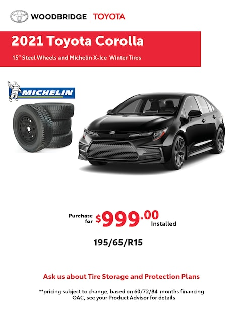 2021 Toyota Corolla Winter Tire Packages
