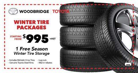 Winter Tire Packages starting from $995 +HST