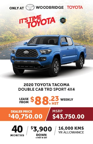It's Time to Toyota with 2020 Toyota Tacoma Double Cab TRD Sport