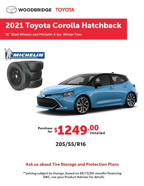 2021 Toyota Corolla Hatchback Winter Tire Packages