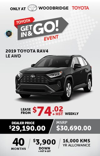 Toyota Get In & Go Event with Rav4 LE AWD