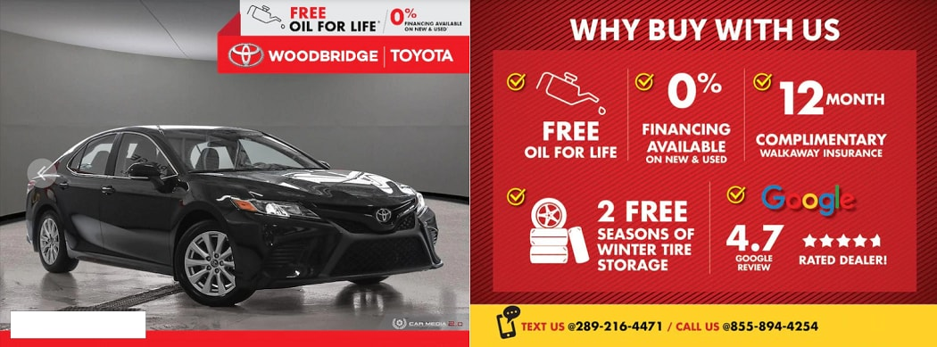 Toyota Certified Used Vehicles in Woodbridge, ON