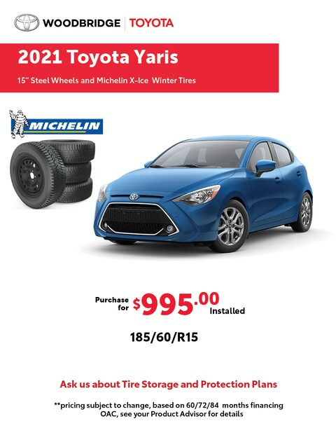 2021 Toyota Yaris Winter Tire Package