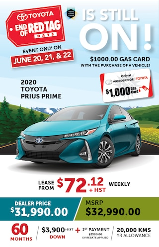 End of Red Tag Days on 2020 Toyota Prius Prime