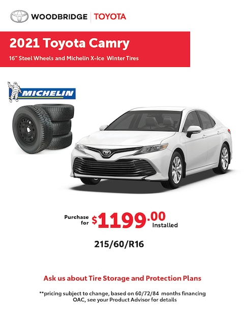 2021 Toyota Camry Winter Tire Packages