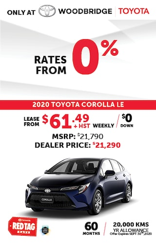 2020 Toyota Corolla Red Tag Special