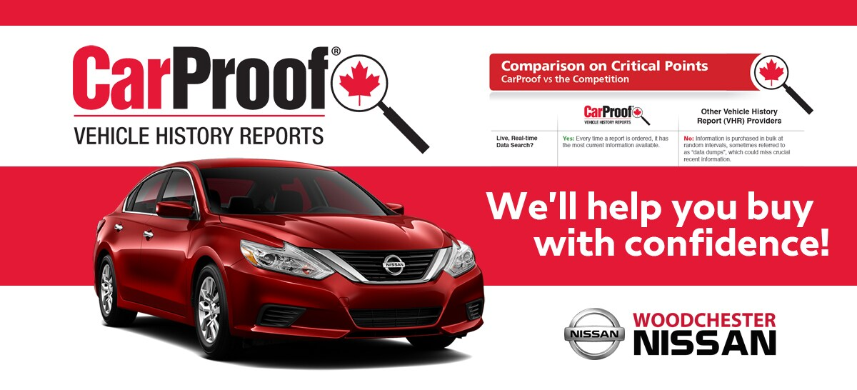 CarProof Reports - Woodchester Nissan
