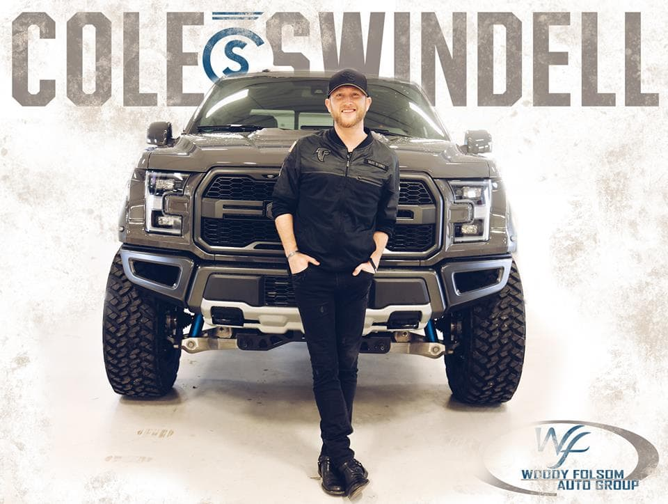 Country Artist Cole Swindell Visits Woody Folsom Ford ...