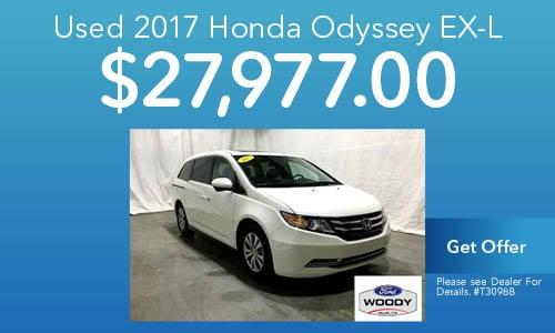 Used 2017 Honda Odyssey EX-L