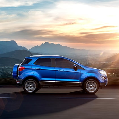 A new Ford Ecosport on the road near Cincinnati, OH