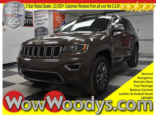 2018 Jeep Grand Cherokee Limited 4x4 3.6L V6 Sunroof Tow Package Leather Heated Sea