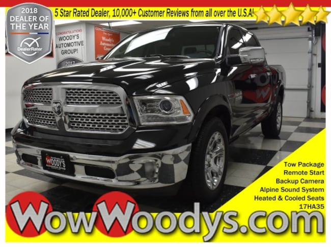 2017 Ram 1500 Laramie Crew Cab 4x4 3.0L V6 Tow Package Leather Heated Co