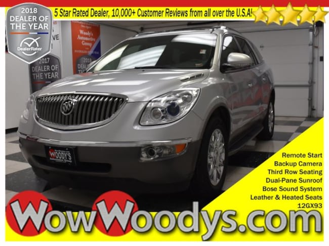 2012 Buick Enclave Leather FWD 3.6L V6 Sunroof Leather Heated Seats Third Row