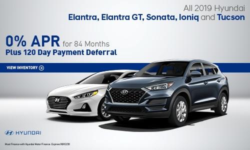 All 2019 Hyundai Elantra, Elantra GT, Sonata, Ioniq and Tucson