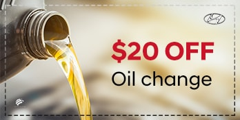Save $20 off your next oil change!