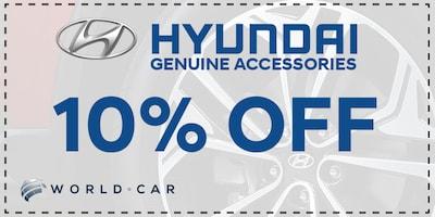 Save 10% off Genuine Hyundai Accessories