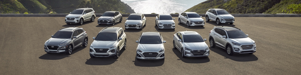 New Hyundai Lineup near the ocean