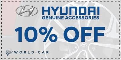 Save 10% off Genuine Hyundai Accessories