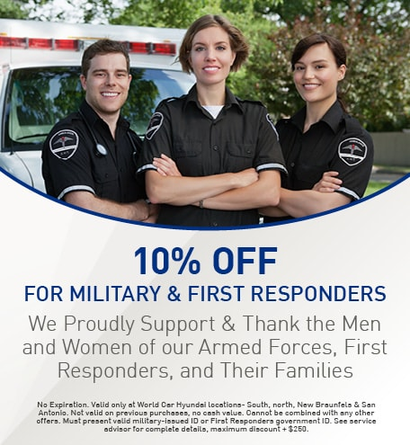 10% Off for Military & First Responders