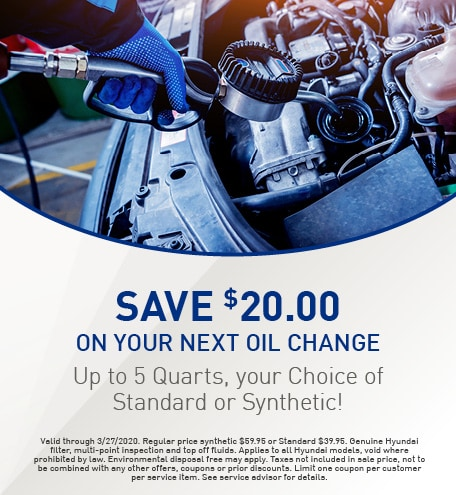 Save $20.00 on your Next Oil Change