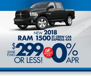 2018 Ram 1500 299 Month World Ram Lease Loan Deals World Chrysler Dodge Jeep Ram