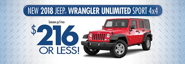 2018 Wrangler Unl. $216/month   World Jeep Lease U0026 Loan Deals