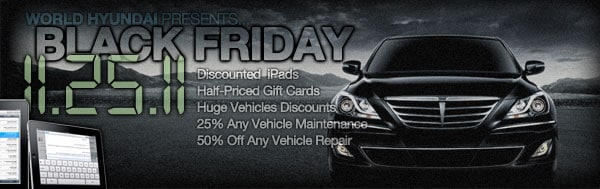 Matteson Auto Mall >> Chicago Hyundai Black Friday 2011 | World Hyundai ...