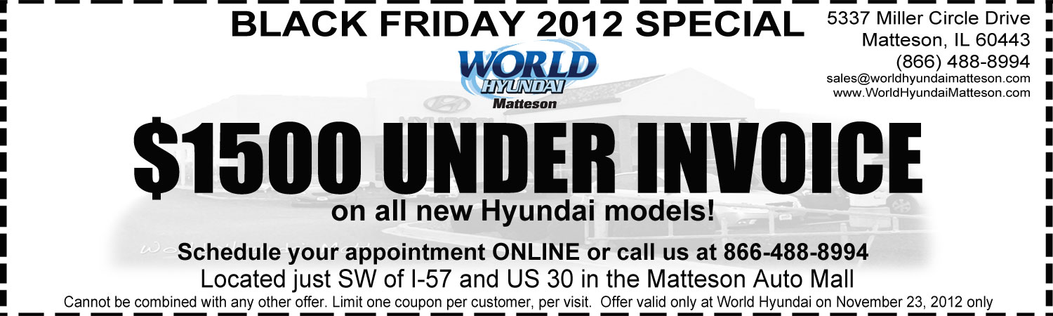 Hyundai Service Coupons Chicago Where To Purchase