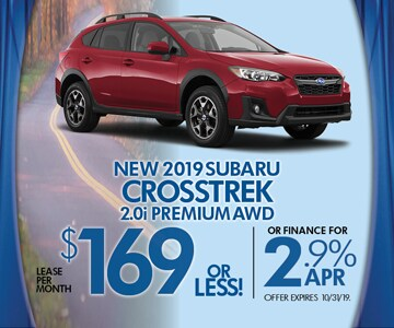Subaru 0 Financing >> 2019 Subaru Crosstrek Lease Special From World Subaru