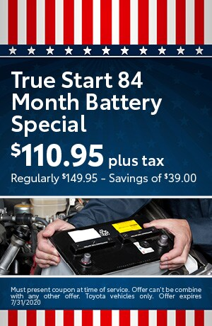 True Start 84 Month Battery Special