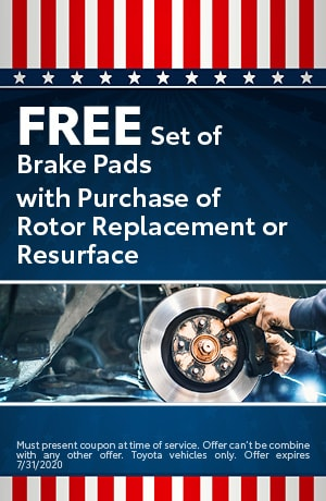 Free Set of Brake Pads