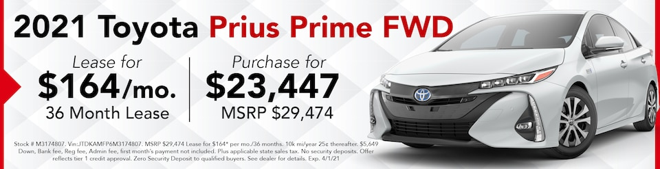 New 2021 Prius Prime- March Offer