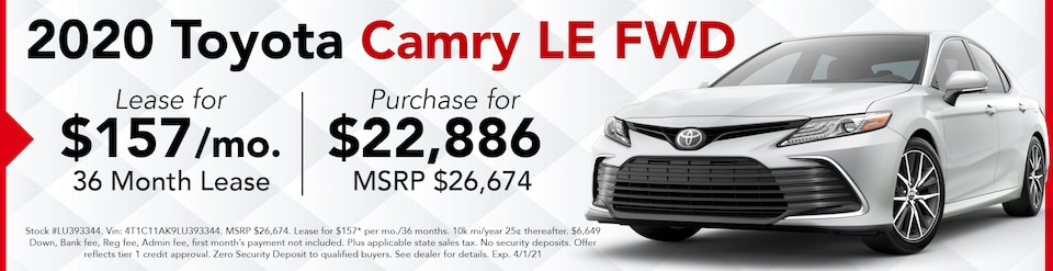 New 2021 Camry LW FWD- March Offer