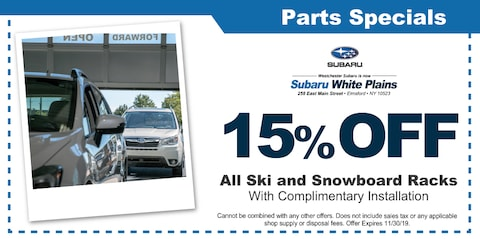 15% OFF All Ski and Snowboard Racks with Complimentary Installation