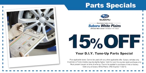 15% OFF Your D.I.Y. Tune-Up Parts Special