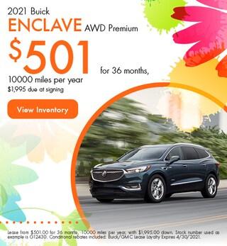 2021 Buick Enclave AWD Premium - $501 Lease