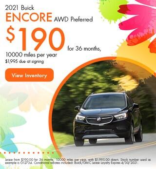 2021 Buick Encore AWD Preferred - $190 Lease