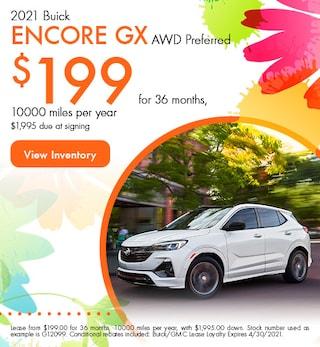 2021 Buick Encore GX AWD Preferred - $199 Lease